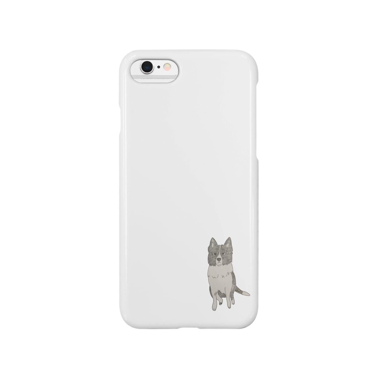 aibouのI♥︎BORDER COLLIE sit series Smartphone cases