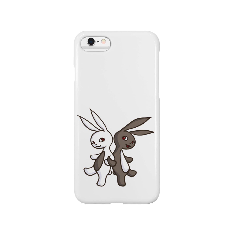 ponsukeの腹黒ウサギと腹白ウサギ Smartphone cases