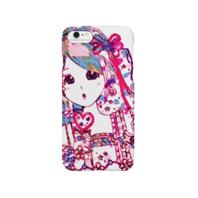 ∞raindorops∞のカラフルガール Smartphone cases