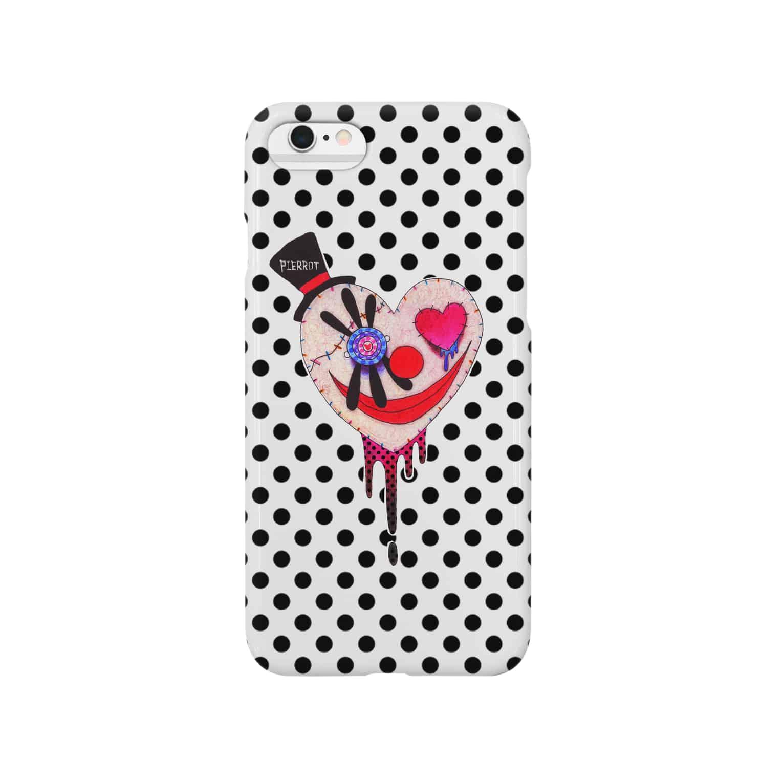 ゐろゐろ屋の心ピエロちゃん(POLKADOT) Smartphone cases