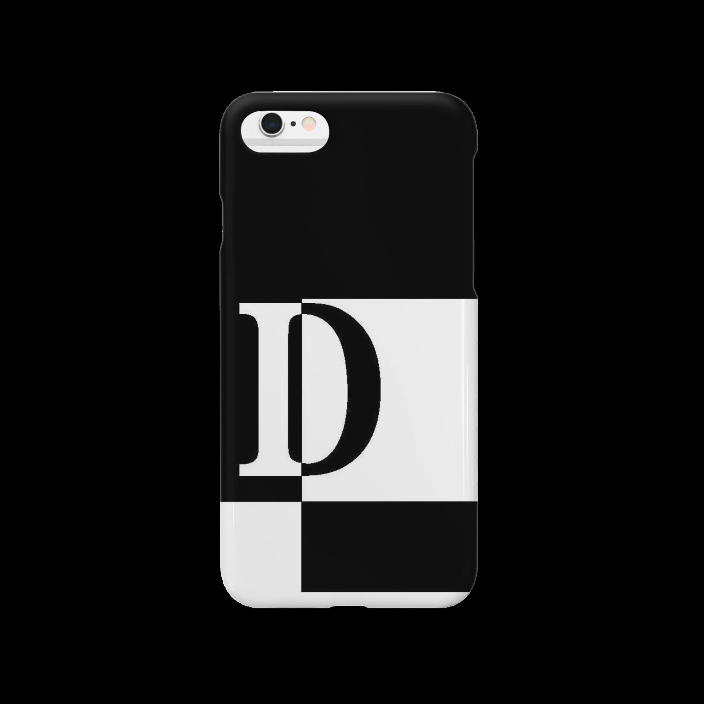 シンプルデザインアルファベットD スマートフォンケース