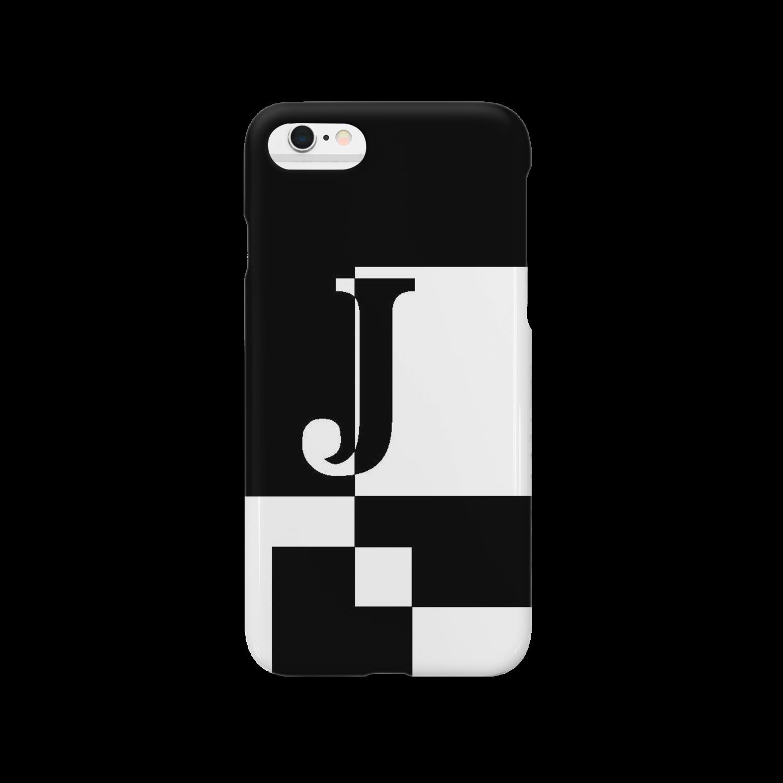 シンプルデザインアルファベットJ スマートフォンケース