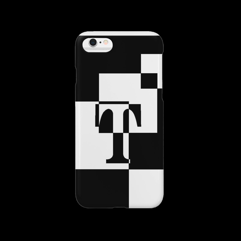 シンプルデザイン:Tシャツ・パーカー・スマートフォンケース・トートバッグ・マグカップのシンプルデザインアルファベットTスマートフォンケース