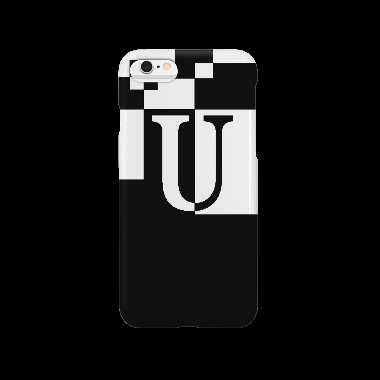 シンプルデザイン:Tシャツ・パーカー・スマートフォンケース・トートバッグ・マグカップのシンプルデザインアルファベットUスマートフォンケース