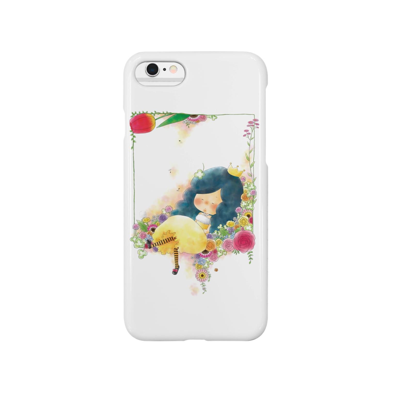ちび子★キエの花籠 Smartphone cases