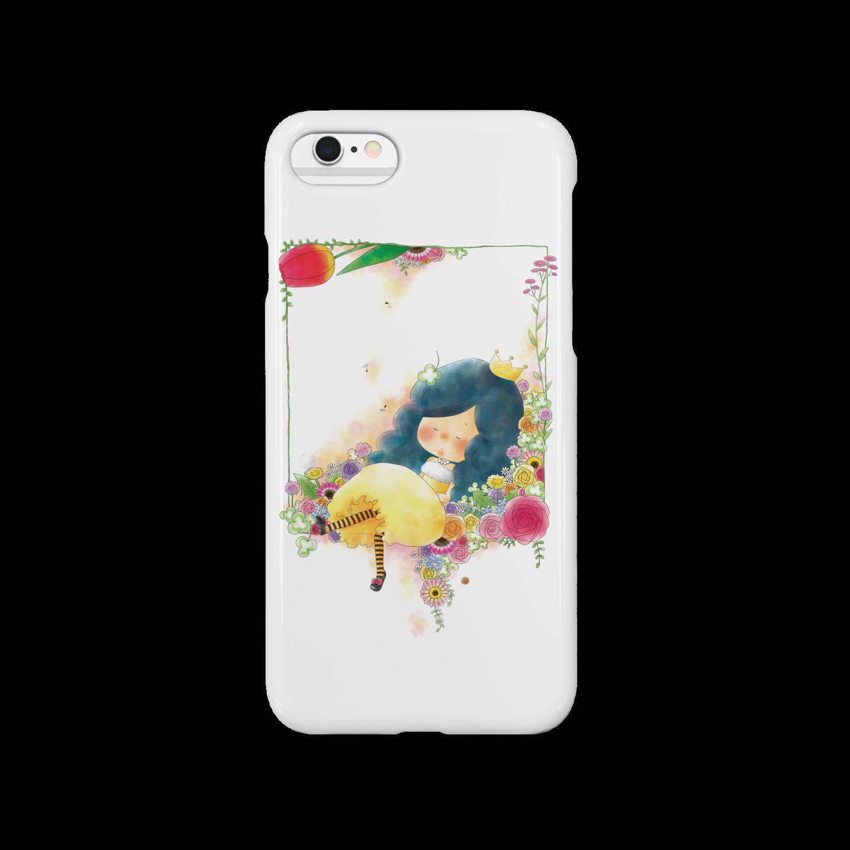 ちび子★キエの花籠スマートフォンケース