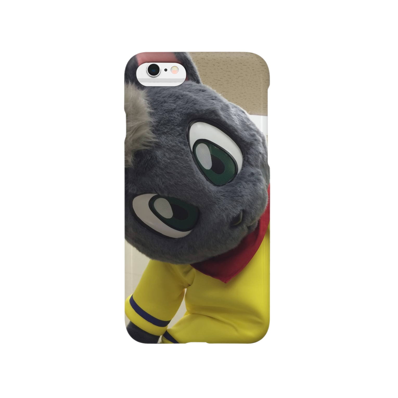 魚の夢CHの黒猫ポピー スマートフォンケース