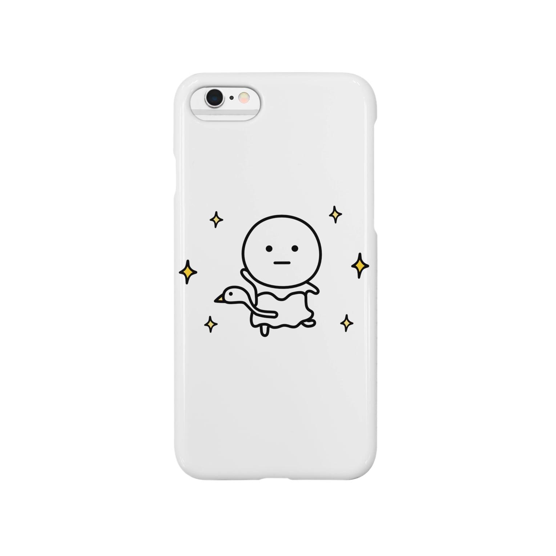 mame&coのまるいの携帯ケース(バレエ編) Smartphone cases