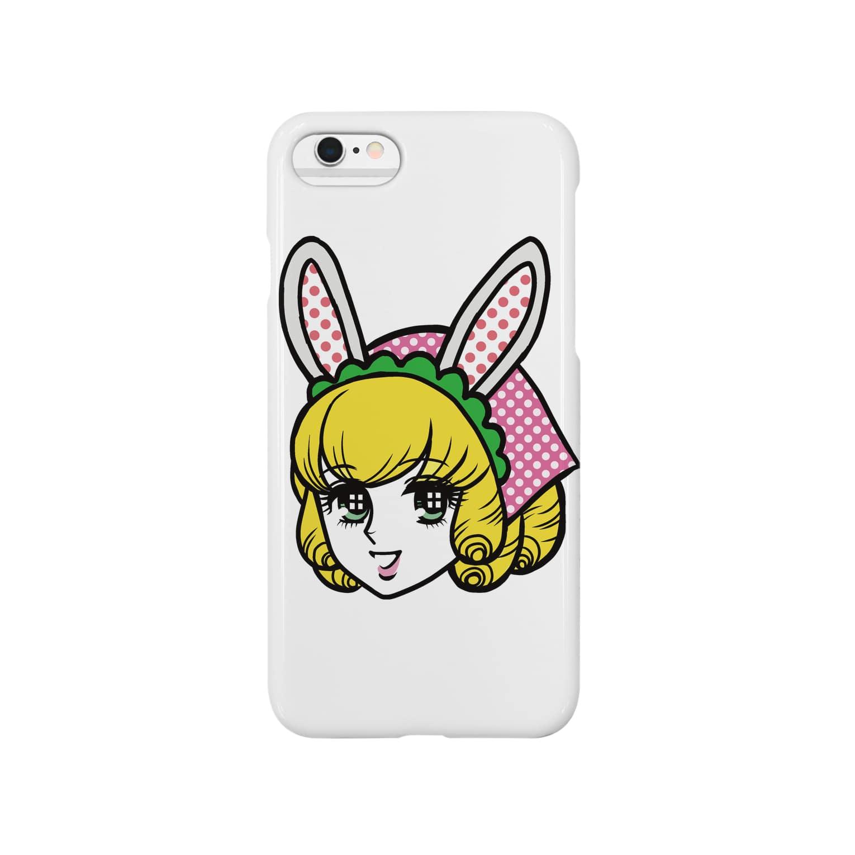白ふくろう舎のうさガール Smartphone cases