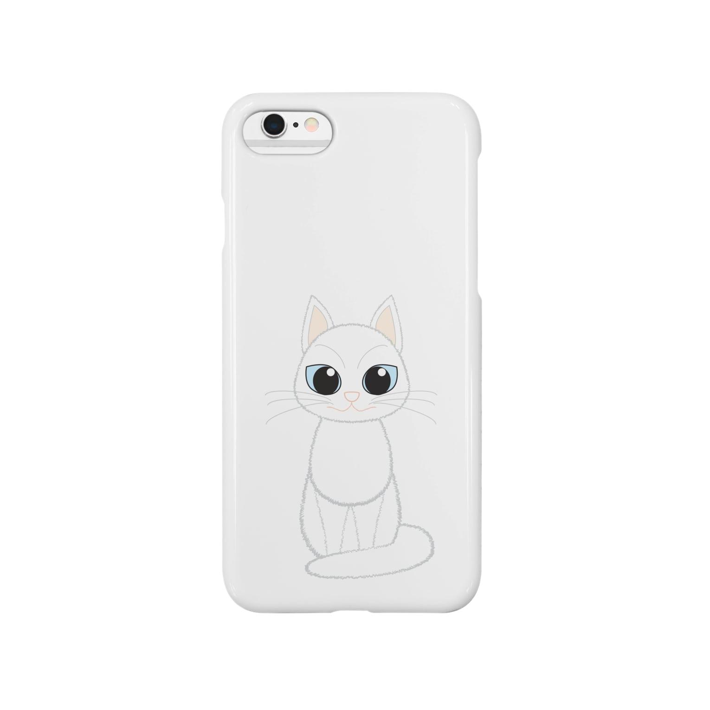 Tar-zansuの白猫 スマートフォンケース