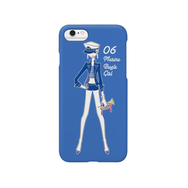 tomokomiyagamiのMarine Bugle Girl スマートフォンケース