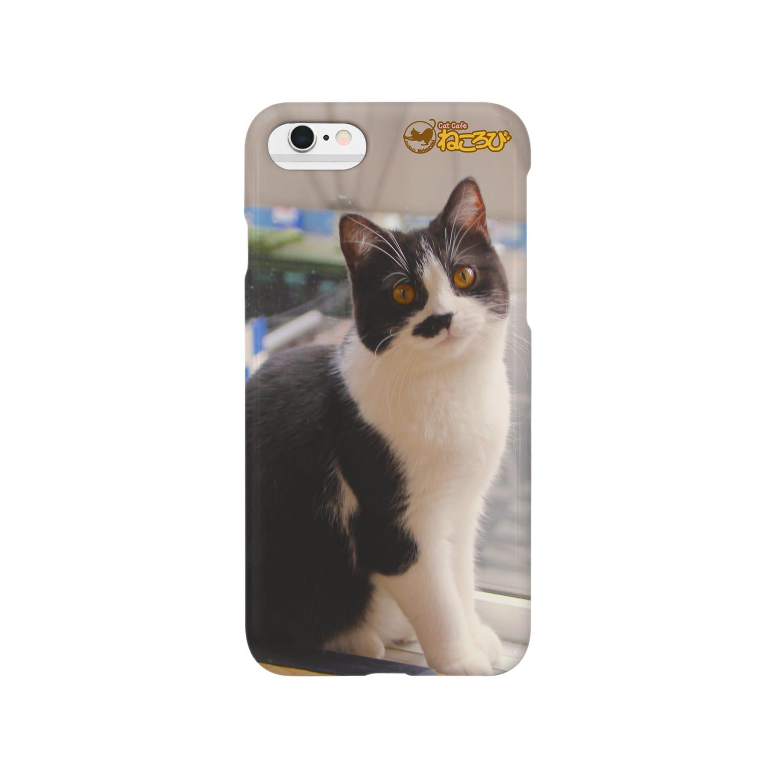 Cat Cafe ねころびのちょびiphoneケース Smartphone cases