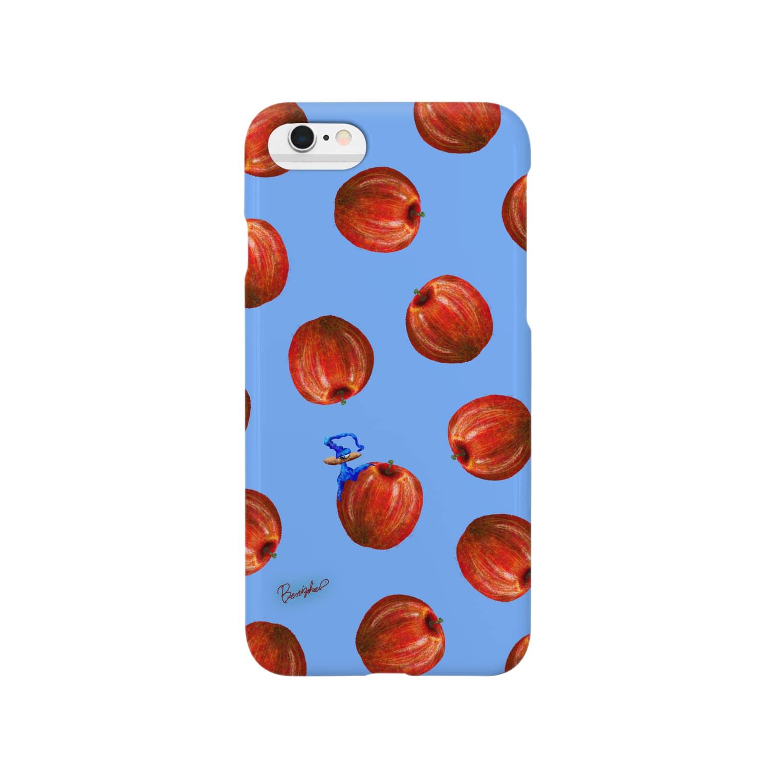 BenizakeのFruit series!! -apple- blue Smartphone cases