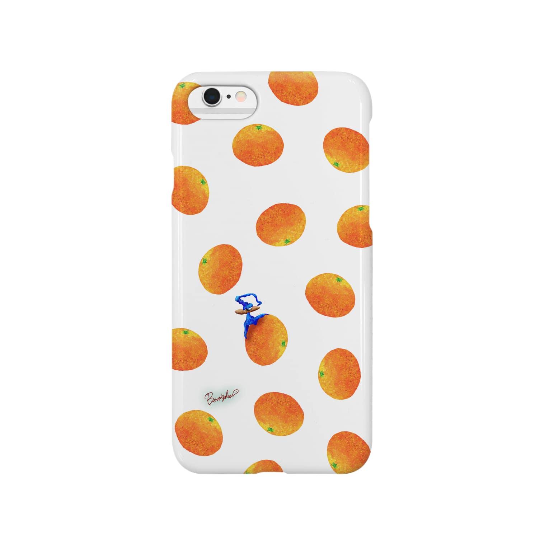 BenizakeのFruit series!! -orange- white Smartphone cases