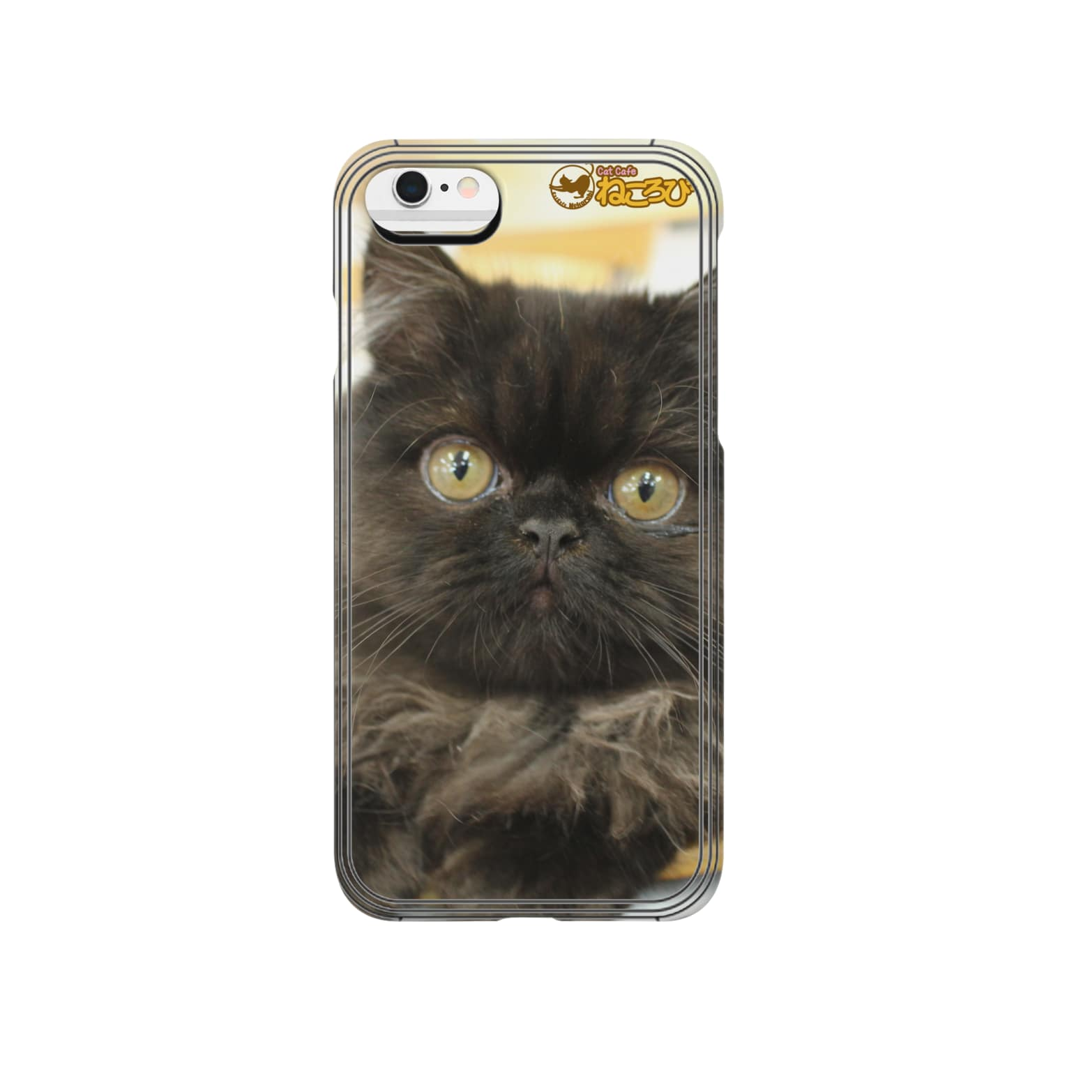 Cat Cafe ねころびのくろすけiPhoneケース Smartphone cases