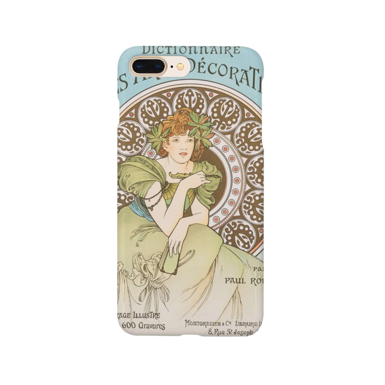 iphoneケース専門店の装飾美術辞典 (1902)ミュシャ Smartphone cases