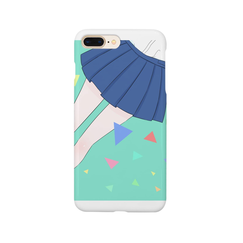 piorのスカート(エメラルド) Smartphone cases
