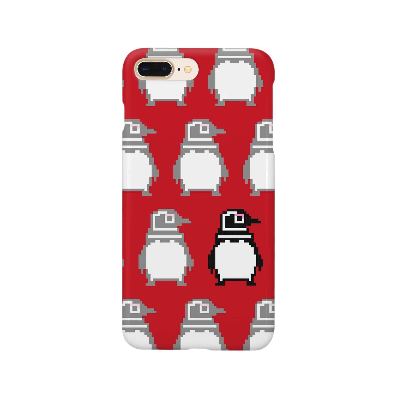 ahoieのpenguin dots Smartphone cases