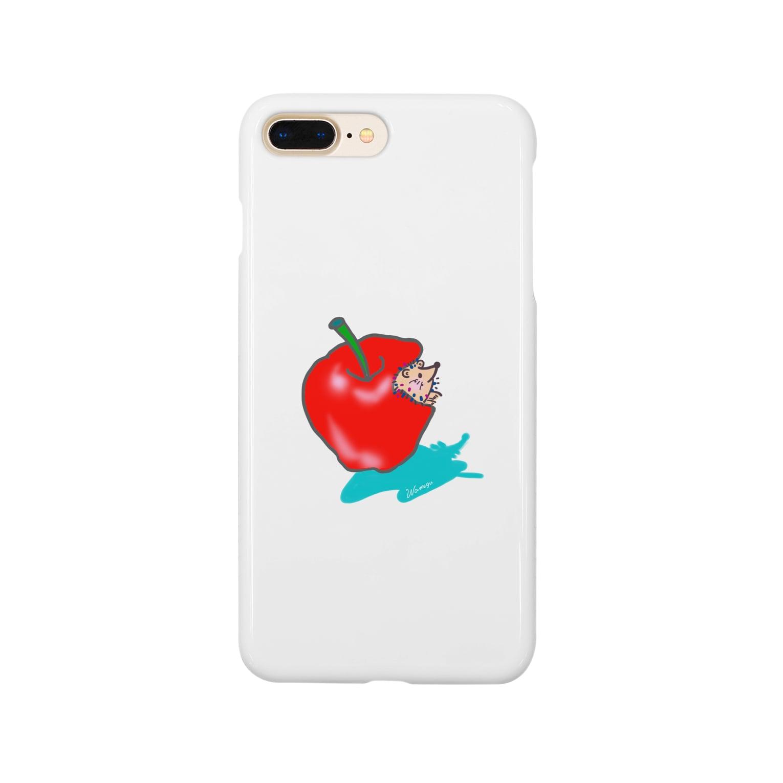 wamegu428のリンゴ ハリネズミ Smartphone cases