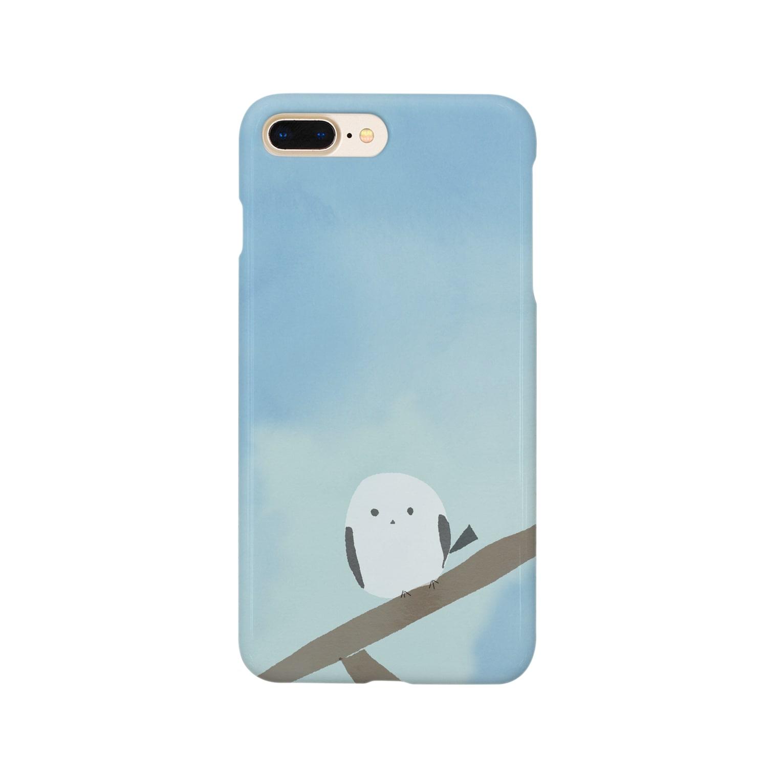 かな工房のシマエナガさん Smartphone cases