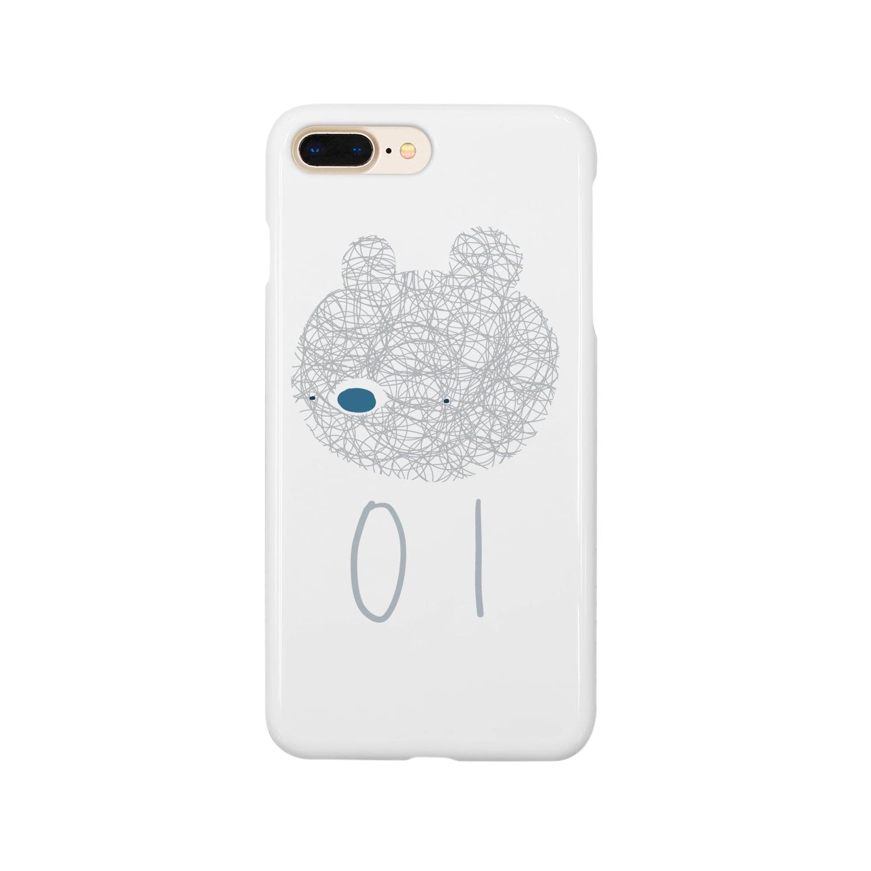 mashibuchiのナンバー01くま Smartphone cases