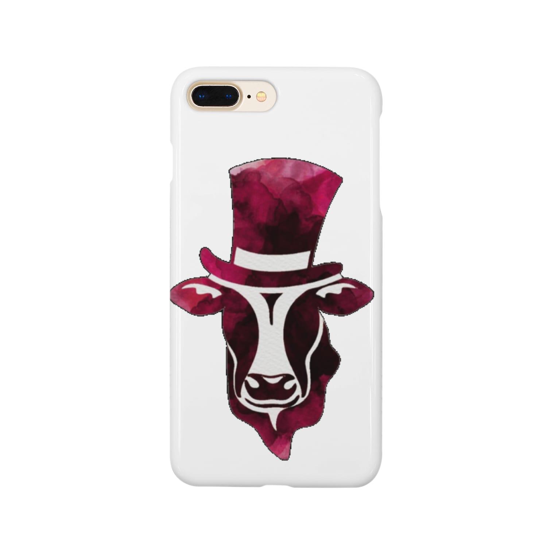 Mattyanの牛が良き(red) Smartphone cases