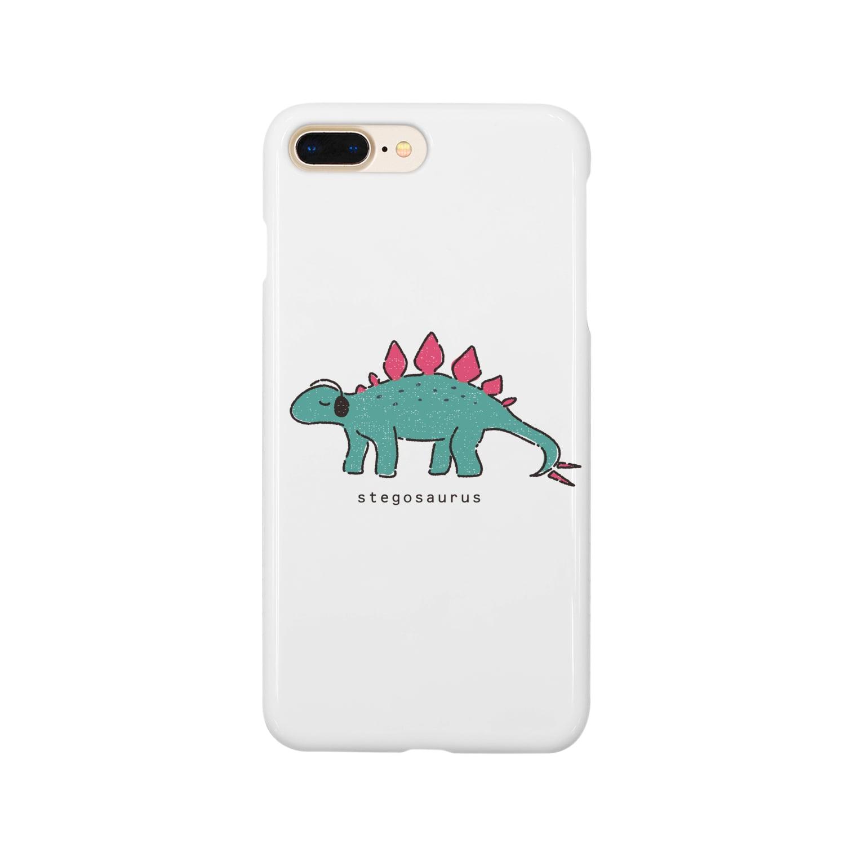 rinaujiのノリノリステゴサウルス Smartphone cases