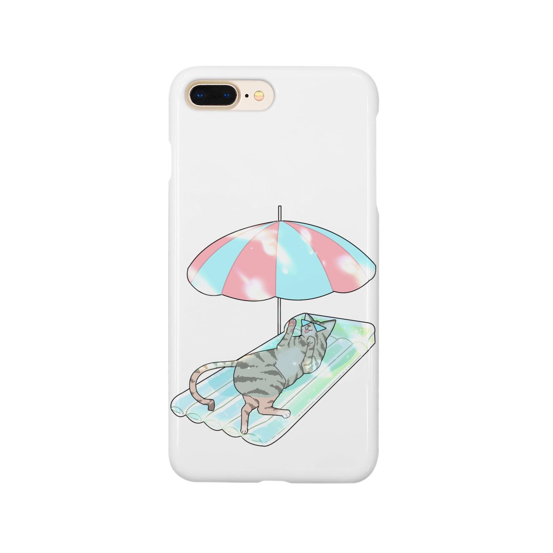 なごの殿と海/わたしと猫の殿 Smartphone cases