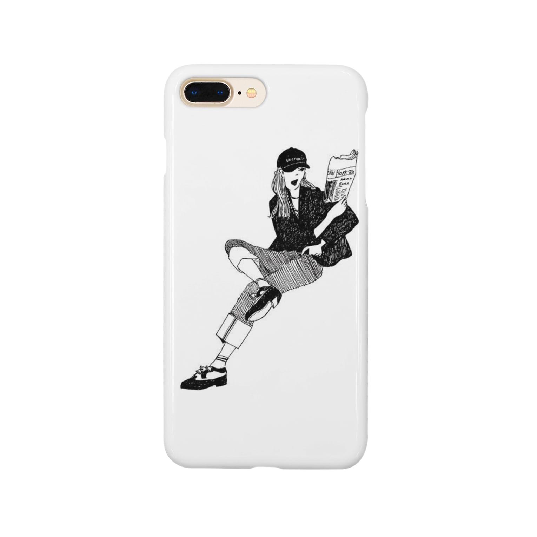 spellのモノクロ Smartphone cases