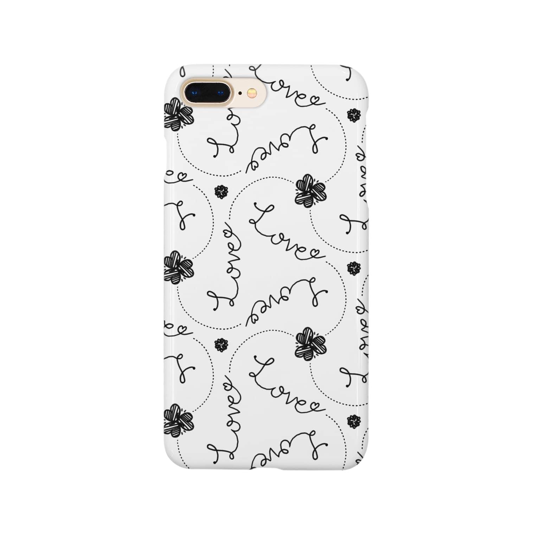 1week shopのLoveパターン Smartphone cases
