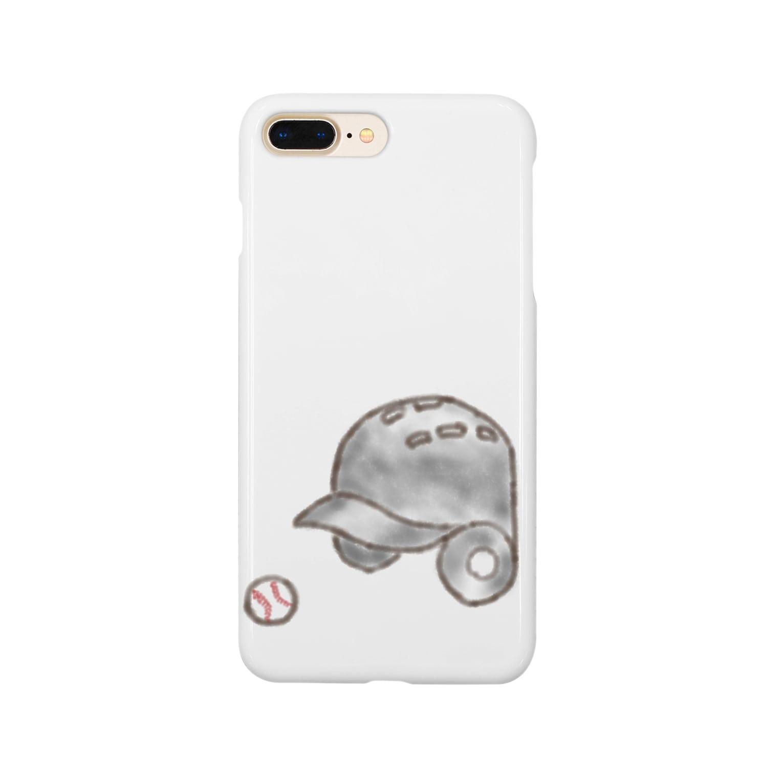 kyonophotoのヘルメットとボール Smartphone cases