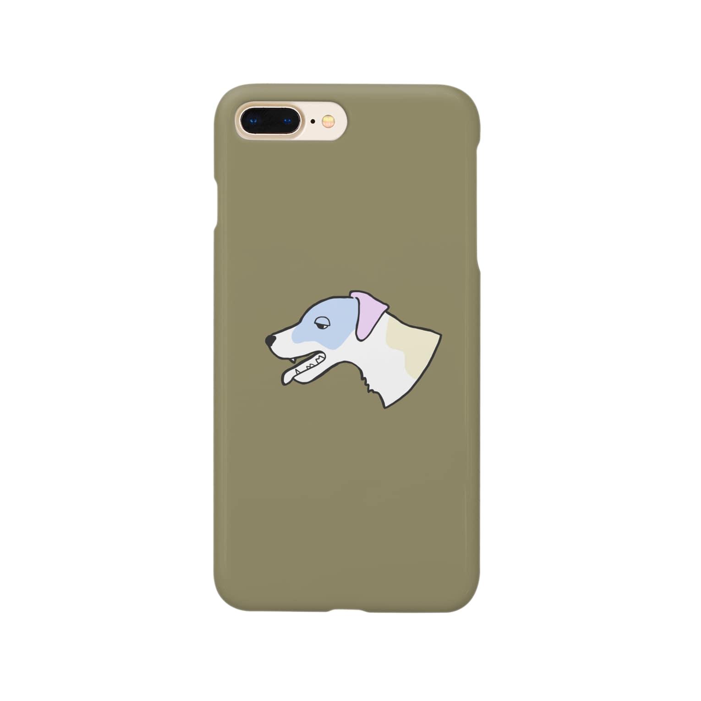 梅子のマーケットのバテてるジャックラッセルテリアのスマホケース Smartphone cases