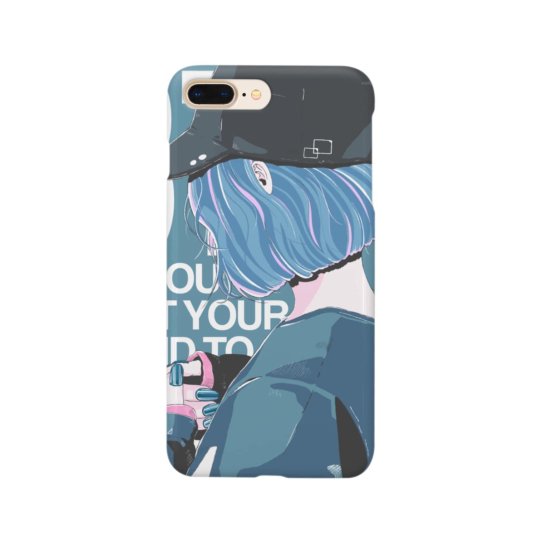 homareのキャップgirl Smartphone cases