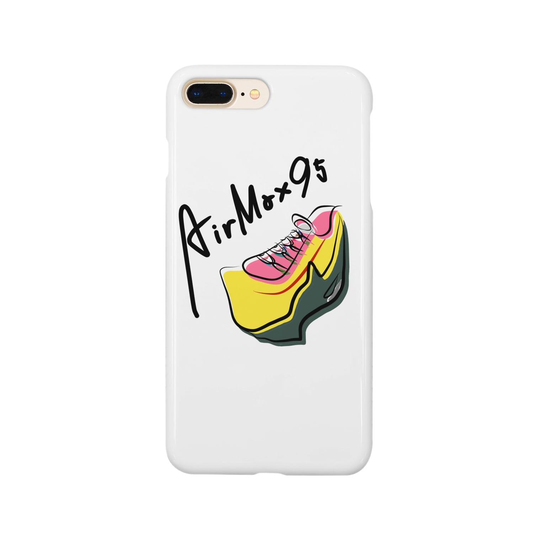 MOOのエアマックス95のスニーカー Smartphone cases
