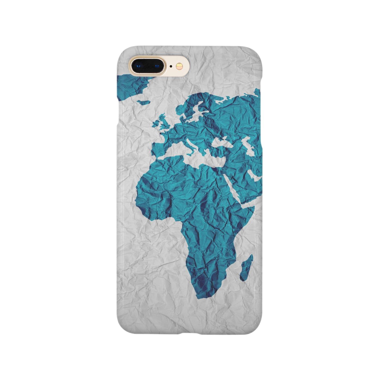 Sakura-yuanの氷と水の世界地図 Smartphone cases