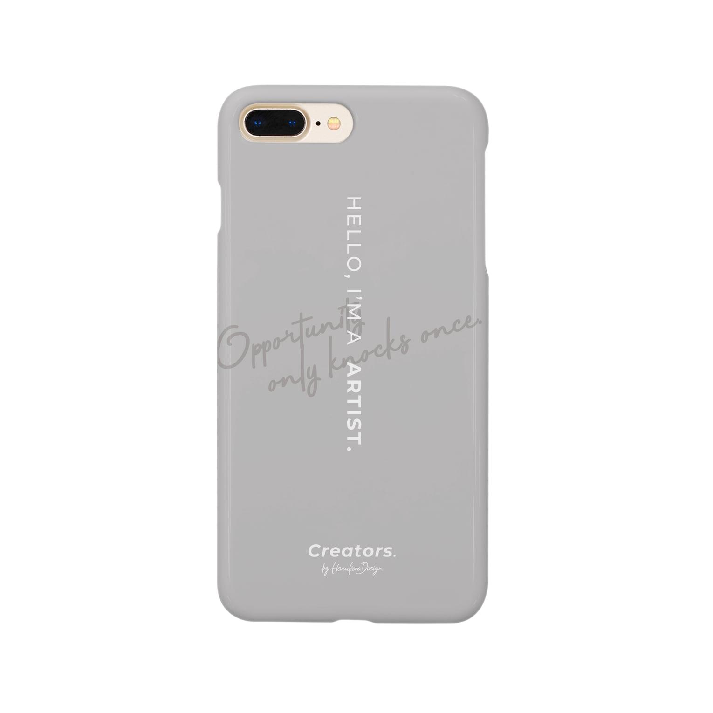 Creators. by Harukana Design.のI'M A ARTIST. (smoky gray) - smartphone case Smartphone cases
