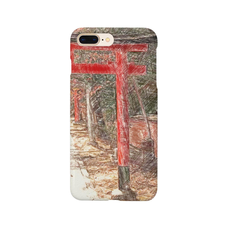 Lost'knotの祇園ノ街デ遊ブ幼女 Smartphone cases