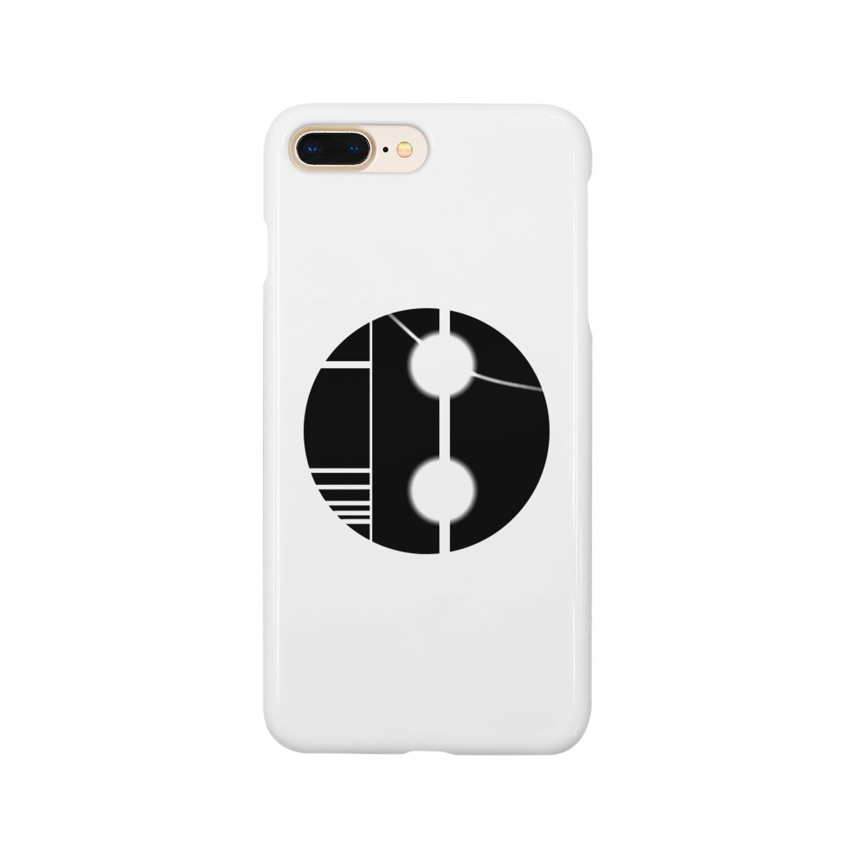 Tackerのブラックバッジくん Smartphone cases