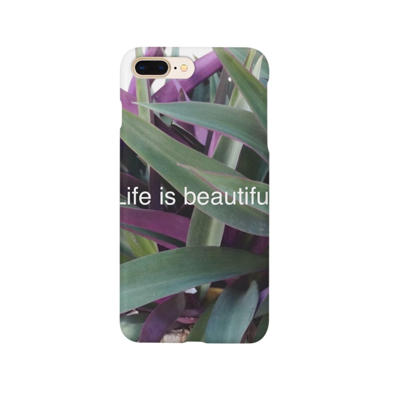ipunigraphの葉っぱ Smartphone cases