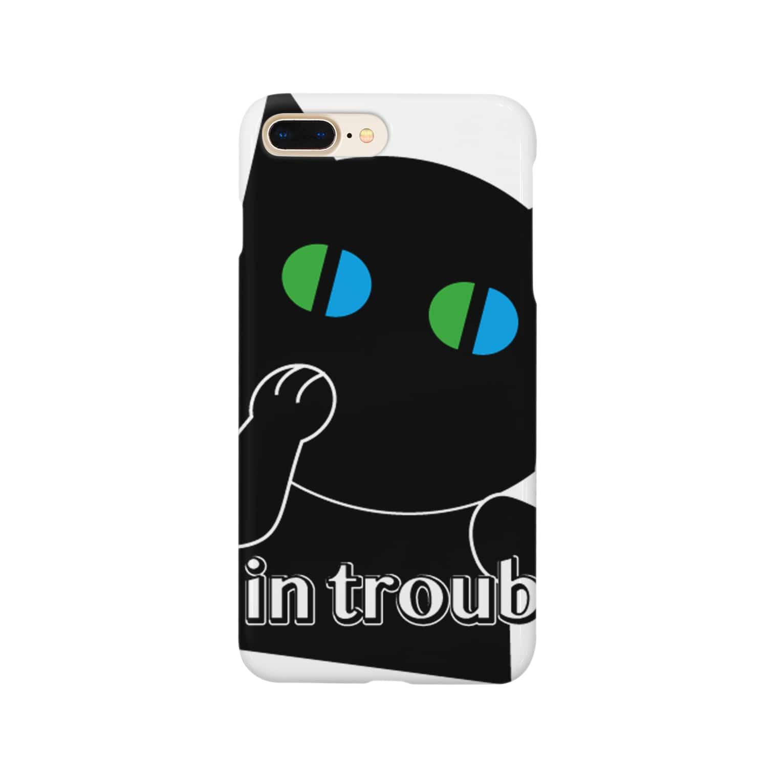 POPUP_KOBE_MARIKOの困った〜焦るねこ Smartphone cases