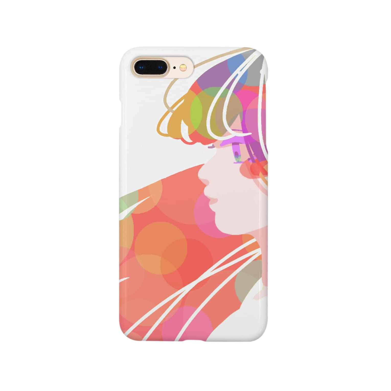 KINJI'sショップの透明GIRL Smartphone cases