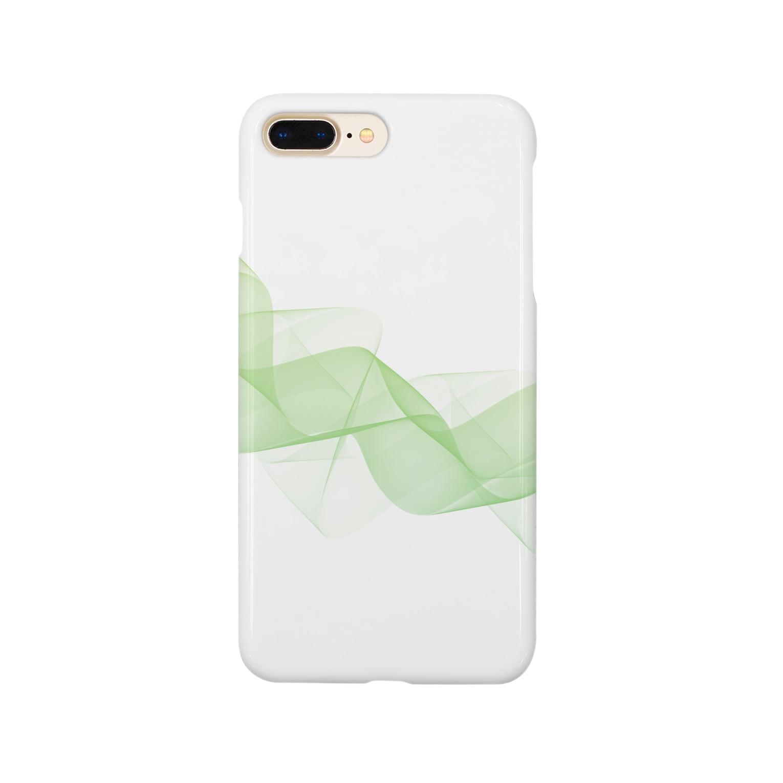 siousakuのゆらめき 緑 Smartphone cases