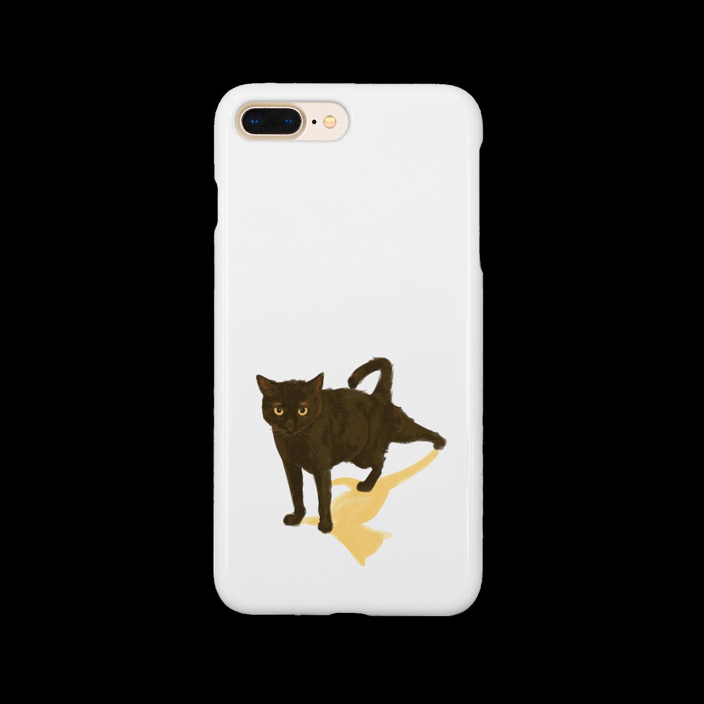 10-grove(Kidati)の【黒猫ストレッチ】スマートフォンケース