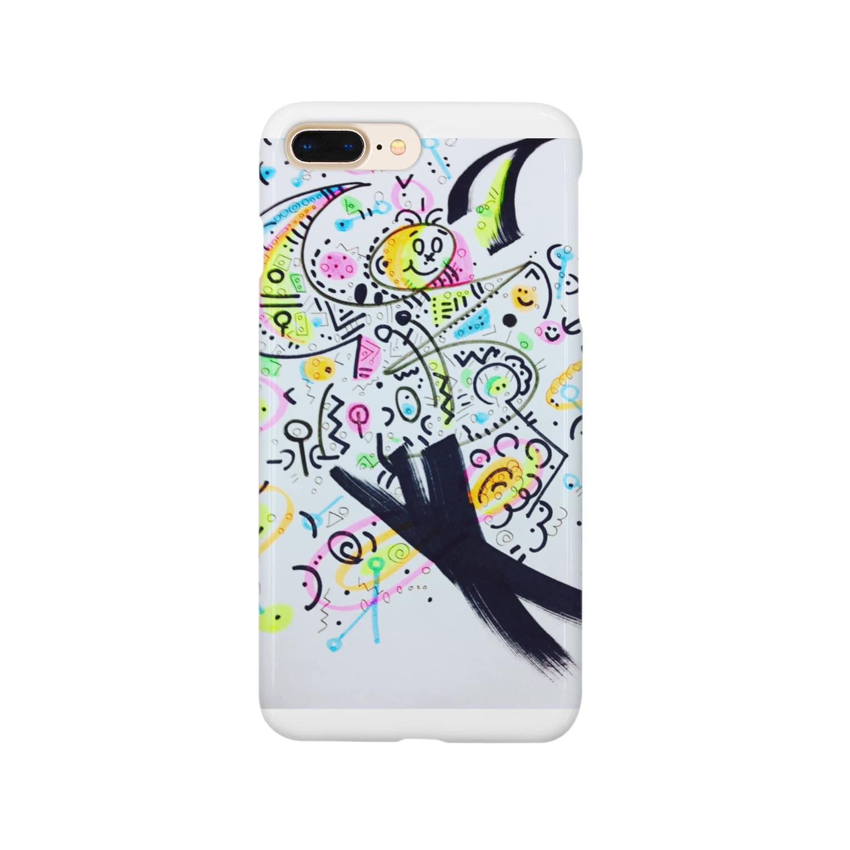 coppepan_brothersの宇宙&Pops君&謎のパラソル銀河団!🌟🌎🍡🚣🌟 Smartphone cases