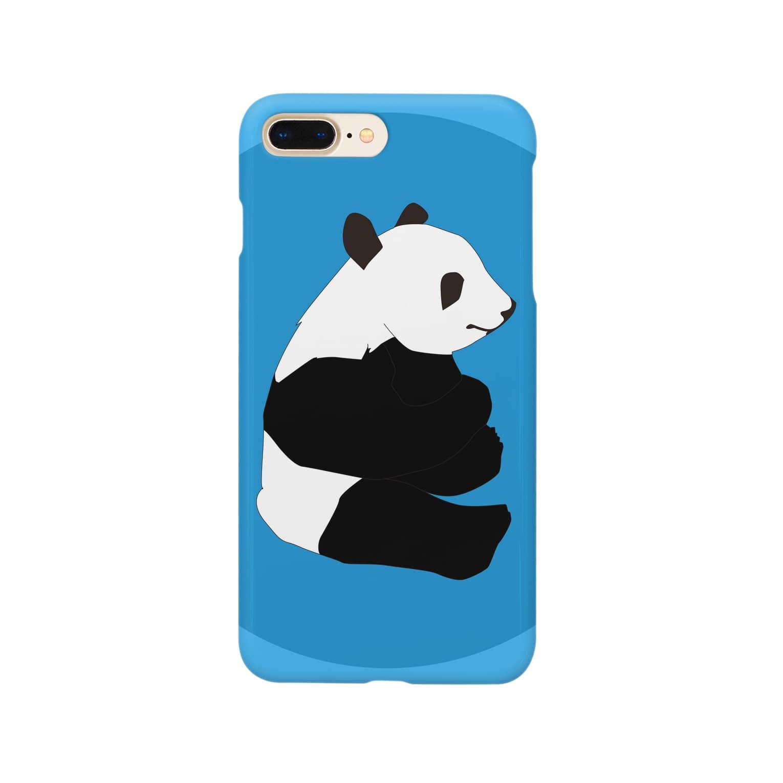 chicodeza by suzuriの可愛いパンダのiphoneケース Smartphone cases