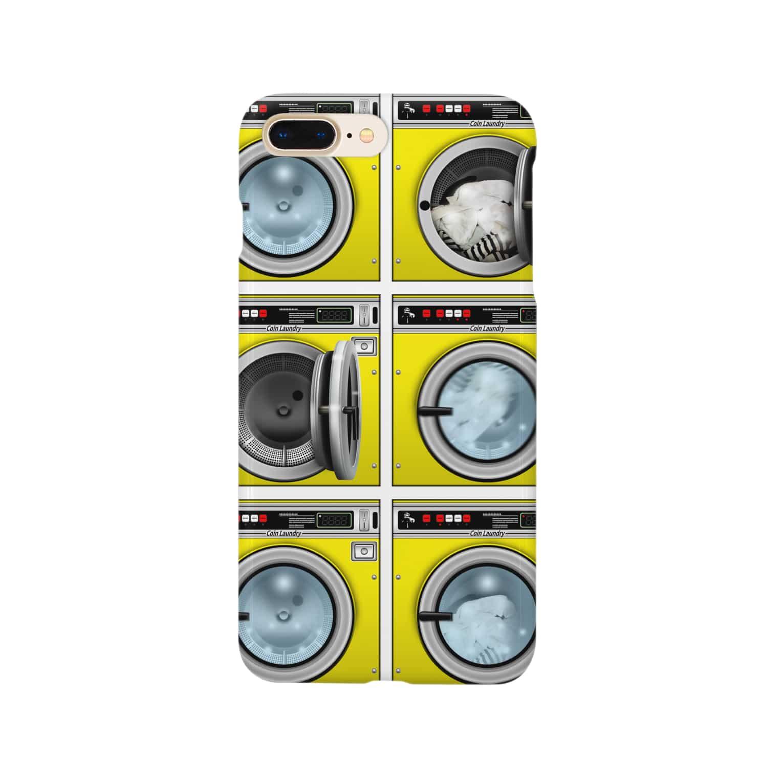 TOMOKUNIのコインランドリー Coin laundry【2×3】 Smartphone cases