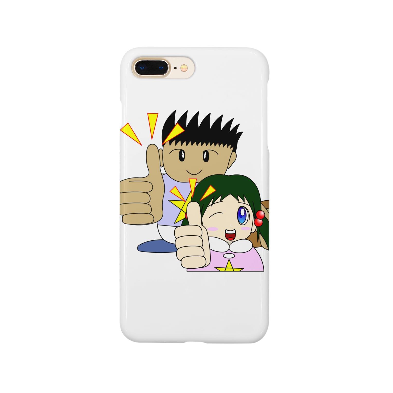WANPA's STOREのわんぱ君としおりちゃん Smartphone cases