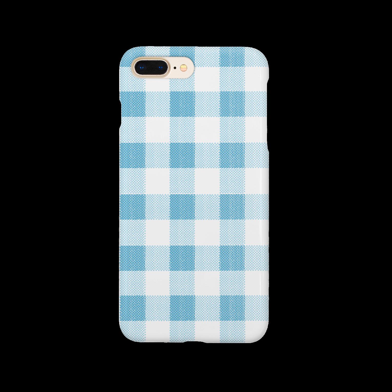 PAPER  HEKISUIのcheck blueスマートフォンケース