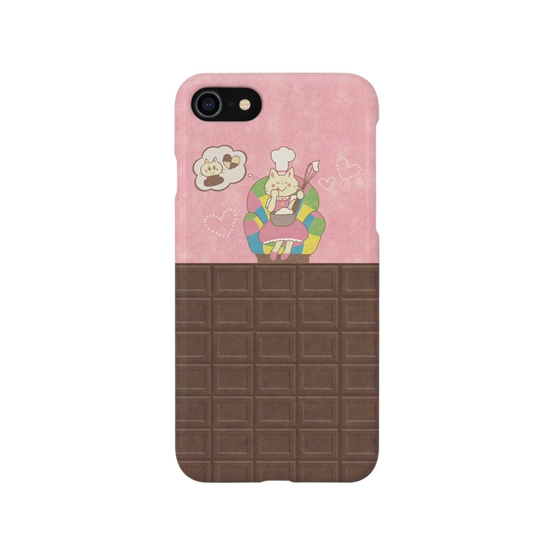 やたにまみこのiPhone7用ケース◆ema-emama『sweet-cat』  Smartphone cases