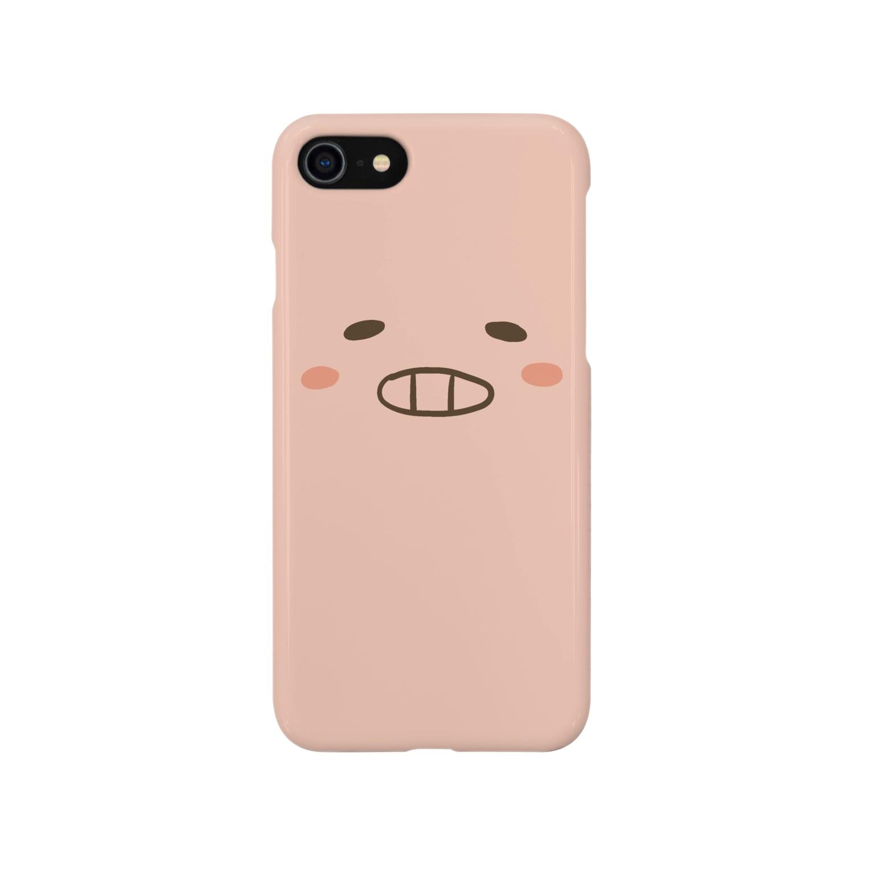 cana@ぶたさんと韓国語のぶたさん Smartphone cases